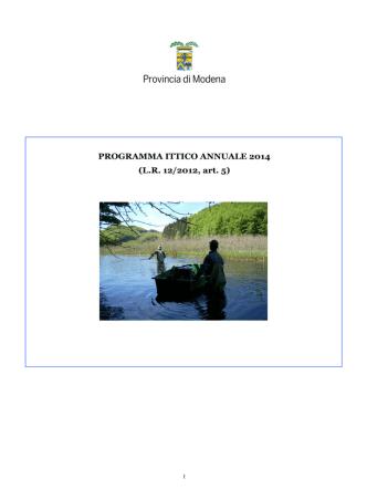 DC Programma ittico 2014-allegato - CPM Fly