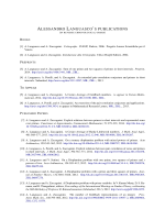 List Papers - Dipartimento di Matematica