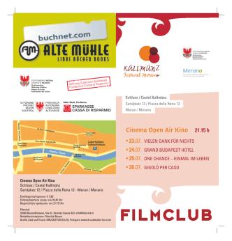 Cinema Open Air Kino 21.15 h