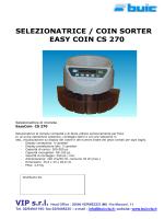 SELEZIONATRICE / COIN SORTER EASY COIN CS 270
