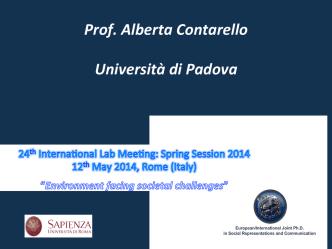 Contarello - European Doctorate on Social Representations and