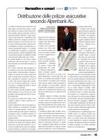 Distribuzione delle polizze assicurative secondo Alpenbank AG