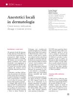Anestetici locali in dermatologia