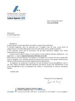 Roma, 4 Novembre 2014 Prot. 287/EDB/ldg Alle
