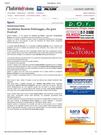 Accademia Bustese Pattinaggio, che gran Festival!
