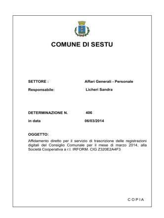 COMUNE DI SESTU