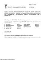 GIUNTA COMUNALE DI PIACENZA Delibera n°350 09/12/2014