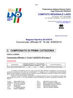 Comunicato Ufficiale N° 16 del 8/08/2014 3