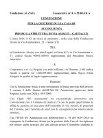 Fondazione ALZAIA Cooperativa arl LA PERGOLA CONVENZIONE