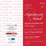 """Invito - Coro """"Candotti"""" di Codroipo"""