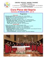Coro Pieve del Seprio - Centro Sociale Anziani Daverio