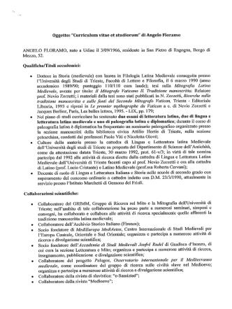 CURRICULUM ANGELO FLORAMO - Gazzetta Amministrativa