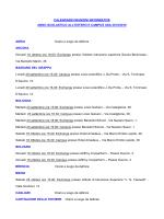 CALENDARIO RIUNIONI INFORMATIVE ANNO
