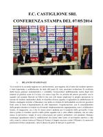 F.C. CASTIGLIONE SRL CONFERENZA STAMPA DEL 07/05/2014