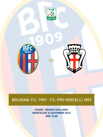 Bologna-Pro Vercelli, clicca qui per scaricare il match