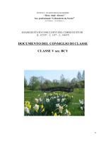 DOCUMENTO DEL CONSIGLIO DI CLASSE CLASSE V sez. BCY