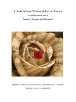 Presentazione del Concerto in memoria delle Vittime della Uno Bianca