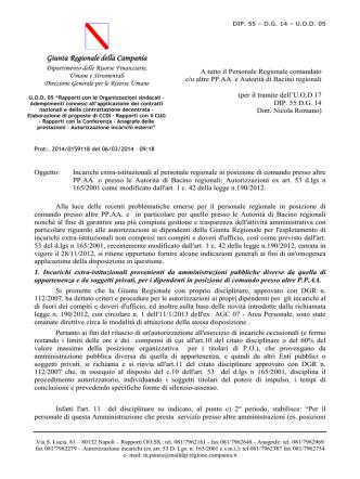 autorizzazioni ex art. 53 D.Lgs. n. 165/2001