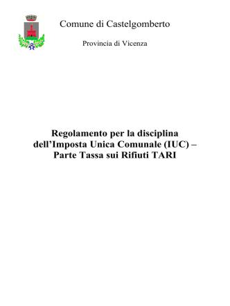 Art 1 - Comune di Castelgomberto