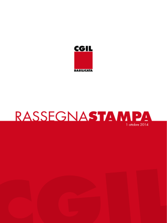 1_10_2014 - CGIL Basilicata