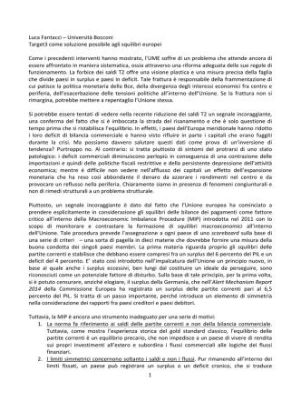 1 Luca Fantacci – Università Bocconi Target3 come soluzione