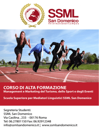 corso di alta formazione in management e marketing del turismo