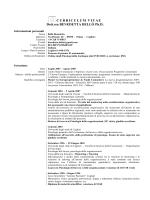 Curriculum Vitae aggiornato al 28 Febbraio 2014