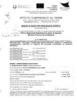bando di gara ali terme  - PON FESR 2007