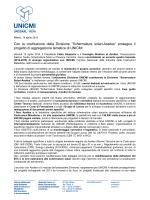 Scarica il comunicato stampa - Associazione Costruttori Acciaio Italiani