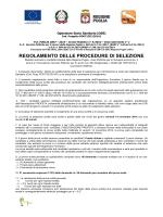 regolamento selezioni - Provincia di Brindisi