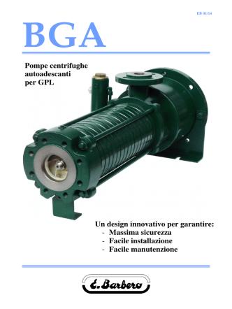 Brochure BGA - Barbero Pompe