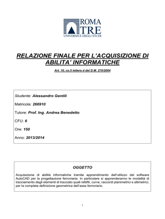 Alessandro Gentili LM IVT - Collegio Didattico di Ingegneria Civile