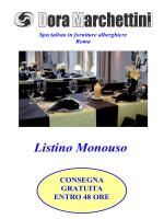 Listino Monouso - Dora Marchettini srl