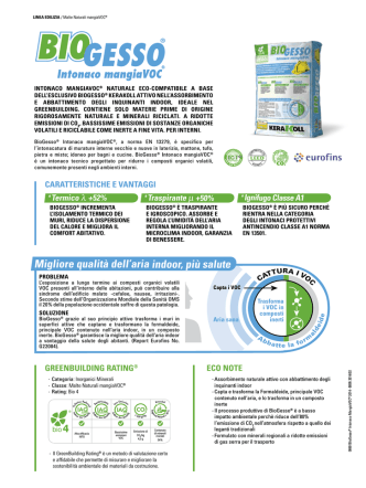 BioGesso® Intonaco mangiaVOC