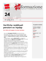 Verifiche reddituali pensioni ex Inpdap