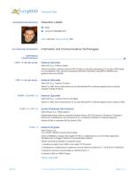 Nazareno Latella Information and Communications Technologies