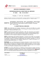 Determinazione n°2652 del 14.10.2014.