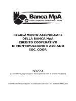 Bozza Regolamento Assembleare 2014 Banca MpA
