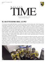 WOLVES TIME n.2 - associazione sportiva pochi 89