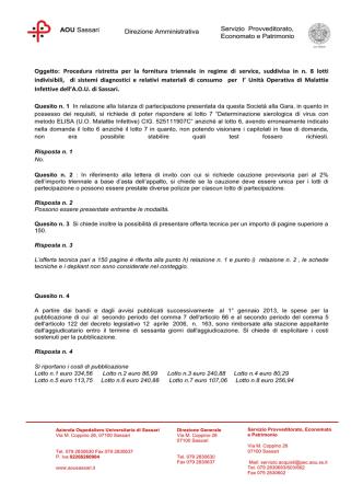 Chiarimenti del 12.03.2014 - Azienda Ospedaliero Universitaria