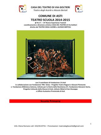 comune di asti - teatro scuola 2014-2015