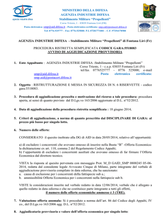 340_AVVISO DI AGGIUDICAZIONE-PROVVISORIA