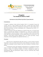 Progetto - Scuola capofila CTI