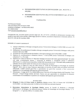 Brandi Giovanni - Policlinico S.Orsola