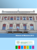 bilancio di missione 2013 - Azienda Ospedaliero