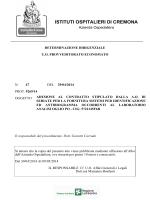 """Vedi Allegato - testo esito - """"Istituti Ospitalieri"""" di Cremona"""