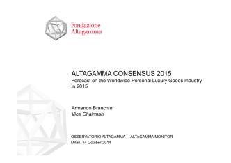 Altagamma Consensus 2015