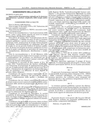 D.A. 14 Aprile 2014 - Qualità Sicilia SSR