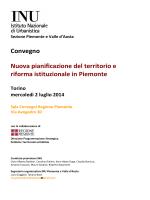 Programmazione - Torino Strategica