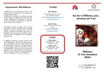 Biblioteca di Area Umanistica Siena